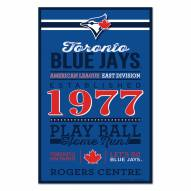 Toronto Blue Jays Established Wood Sign