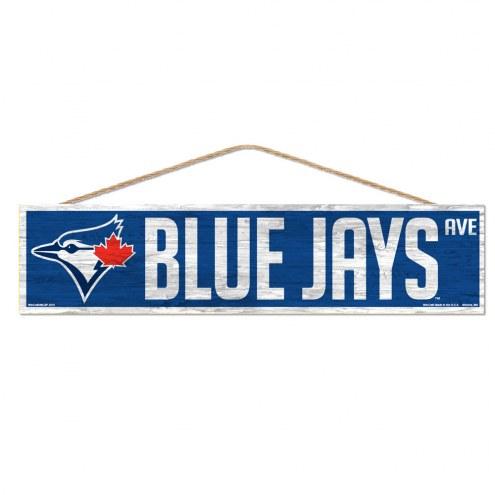 Toronto Blue Jays Wood Avenue Sign