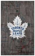 """Toronto Maple Leafs 11"""" x 19"""" City Map Sign"""