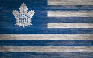 "Toronto Maple Leafs 11"" x 19"" Distressed Flag Sign"