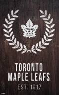 "Toronto Maple Leafs 11"" x 19"" Laurel Wreath Sign"