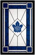 "Toronto Maple Leafs 11"" x 19"" Stained Glass Sign"