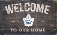 "Toronto Maple Leafs 11"" x 19"" Welcome to Our Home Sign"