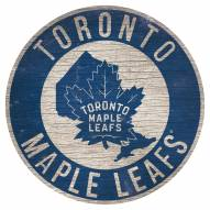 "Toronto Maple Leafs 12"" Circle with State Sign"