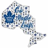 "Toronto Maple Leafs 12"" Floral State Sign"