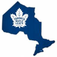 "Toronto Maple Leafs 12"" Team Color Logo State Sign"