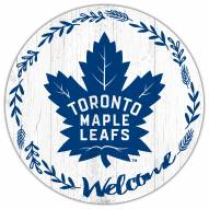"Toronto Maple Leafs 12"" Welcome Circle Sign"