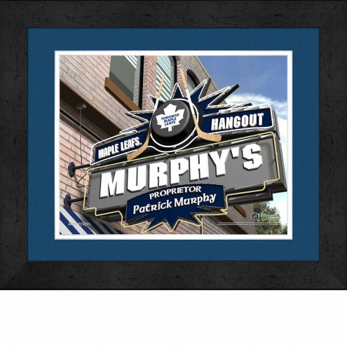Toronto Maple Leafs 13 x 16 Personalized Framed Sports Pub Print