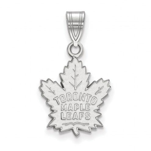 Toronto Maple Leafs 14k White Gold Medium Pendant