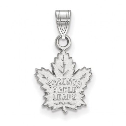 Toronto Maple Leafs 14k White Gold Small Pendant