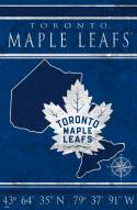"Toronto Maple Leafs 17"" x 26"" Coordinates Sign"