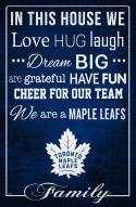 "Toronto Maple Leafs 17"" x 26"" In This House Sign"