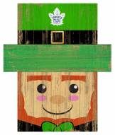 "Toronto Maple Leafs 19"" x 16"" Leprechaun Head"