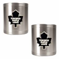 Toronto Maple Leafs 2-Piece Stainless Steel Can Koozie Set - Primary Logo
