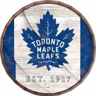 "Toronto Maple Leafs 24"" Flag Barrel Top"