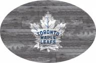 "Toronto Maple Leafs 46"" Distressed Wood Oval Sign"