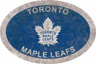"Toronto Maple Leafs 46"" Team Color Oval Sign"