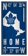 "Toronto Maple Leafs 6"" x 12"" Coordinates Sign"