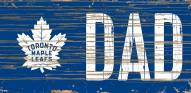 "Toronto Maple Leafs 6"" x 12"" Dad Sign"