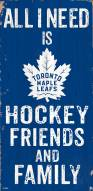 "Toronto Maple Leafs 6"" x 12"" Friends & Family Sign"