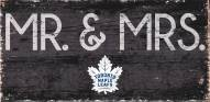 "Toronto Maple Leafs 6"" x 12"" Mr. & Mrs. Sign"