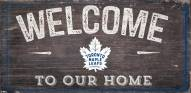 "Toronto Maple Leafs 6"" x 12"" Welcome Sign"