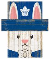 "Toronto Maple Leafs 6"" x 5"" Easter Bunny Head"