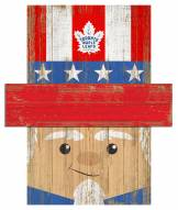 "Toronto Maple Leafs 6"" x 5"" Patriotic Head"