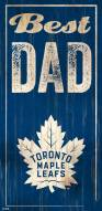 Toronto Maple Leafs Best Dad Sign