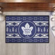 Toronto Maple Leafs Christmas Sweater Starter Rug