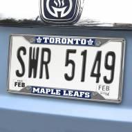 Toronto Maple Leafs Chrome Metal License Plate Frame
