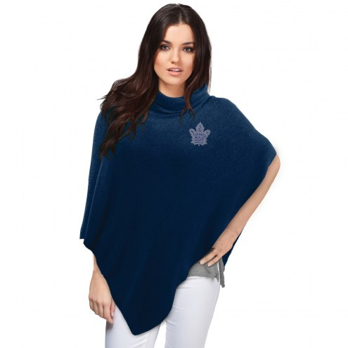 Toronto Maple Leafs Crystal Knit Poncho
