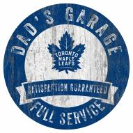 Toronto Maple Leafs Dad's Garage Sign