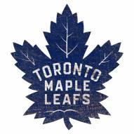 Toronto Maple Leafs Distressed Logo Cutout Sign
