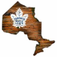 Toronto Maple Leafs Distressed State with Logo Sign
