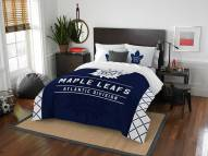 Toronto Maple Leafs Draft Full/Queen Comforter Set