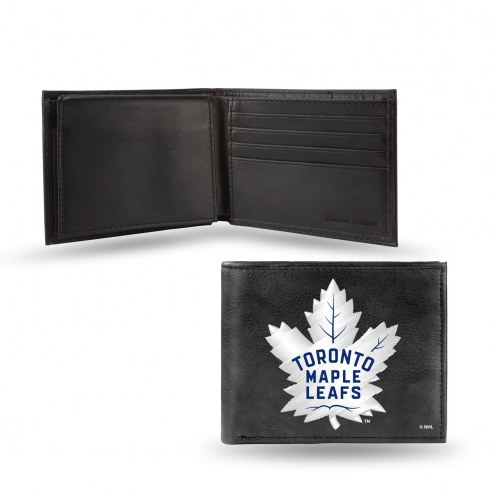 Toronto Maple Leafs Embroidered Leather Billfold Wallet
