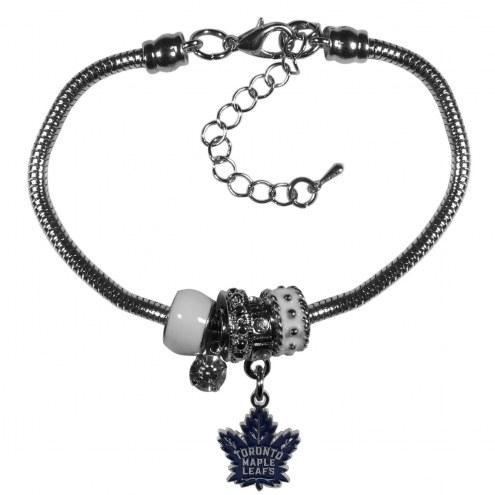 Toronto Maple Leafs Euro Bead Bracelet