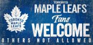 Toronto Maple Leafs Fans Welcome Sign