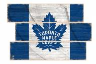 Toronto Maple Leafs Flag 3 Plank Sign