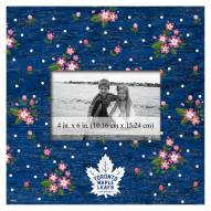 """Toronto Maple Leafs Floral 10"""" x 10"""" Picture Frame"""