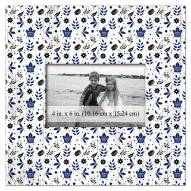 "Toronto Maple Leafs Floral Pattern 10"" x 10"" Picture Frame"