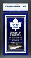 Toronto Maple leafs Framed Championship Print