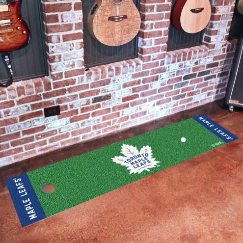 Toronto Maple Leafs Golf Putting Green Mat