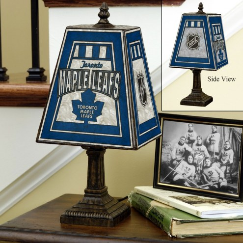 Toronto Maple Leafs Hand-Painted Art Glass Table Lamp