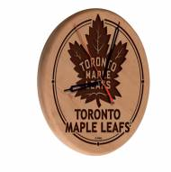 Toronto Maple Leafs Laser Engraved Wood Clock