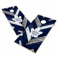 Toronto Maple Leafs Herringbone Cornhole Game Set
