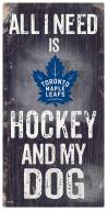 Toronto Maple Leafs Hockey & My Dog Sign