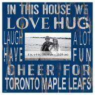 "Toronto Maple Leafs In This House 10"" x 10"" Picture Frame"