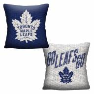Toronto Maple Leafs Invert Woven Pillow